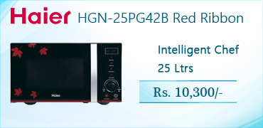 Haier HGN-25PG42B Red Ribbon Microwave Oven Price in Pakistan