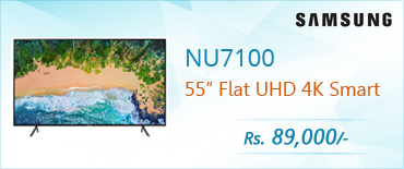 Samsung NU7100 55 inch Flat UHD 4K Smart TV (Series 7) Price in Pakistan